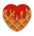valentines day heart shaped waffles with vector image
