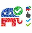 vote republican composition icon abrupt pieces vector image vector image