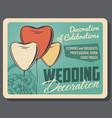 wedding decoration of celebrations service vector image vector image