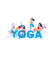 yoga practice print seminar on yoga festival vector image vector image