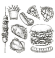 Fast food sketches vector image