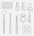 flat beauty fashoin decorative cosmetics vector image