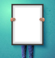 Poster mockup with place for your design vector image