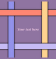 purple abstract background with colorful lines vector image