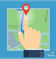 route planning concept vector image