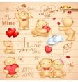 Teddy Bear for love background vector image
