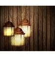 Wood texture dark with lights vector image