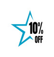 10 off sale 10 discount special price offer vector image vector image