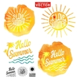 Abstract wtercolor backgroundSummer designLogo vector image