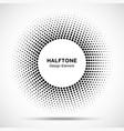 Black Abstract Circle Frame Halftone Dots Logo vector image vector image