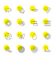 bright icons vector image vector image