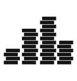 bundle coin icon simple black style vector image vector image