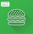burger fast food icon business concept hamburger vector image