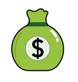 business bag with cash money inside vector image vector image