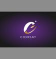 c alphabet letter gold golden logo icon design vector image vector image
