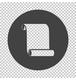 canvas scroll icon vector image vector image