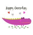 cartoon crocodile isolated vector image vector image