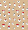 chicken pattern vector image vector image