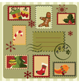 Christmas card with stamps vector | Price: 1 Credit (USD $1)