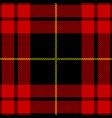clan macqueen scottish tartan plaid vector image vector image