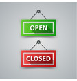 close open - marketing shop icon vector image