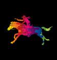 cowboy riding horseaiming gun graphic vector image vector image