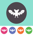 Cute bat icon vector image