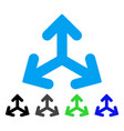 Direction variants flat icon vector image