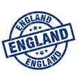 england blue round grunge stamp vector image vector image