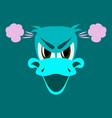 Flat icon on theme animal evil duck vector image