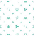 floral icons pattern seamless white background vector image vector image