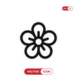 flower icon vector image