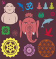 Ganesh collection vector image vector image