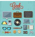 Geek accessories 2 vector image vector image