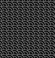 Geometric striped black seamless pattern with vector image vector image