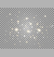 glowing light flying composition glitter golden vector image vector image