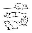 graphic simple rat on white background vector image