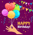 happy birthday kids fun poster vector image