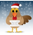 Happy New Year background with rooster vector image vector image