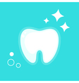 human tooth Flat design vector image vector image