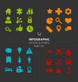 infographic icon collection vector image vector image