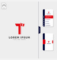 initial t for corporate in swiss business logo vector image