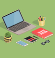 isometric on green background vector image