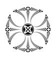 Laurel wreath tattoo Black ornament Cross vector image vector image