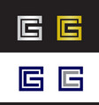 letter c and letter g logo vector image