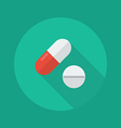 medical flat icon medical pills vector image vector image