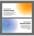 modern abstract banner background template design vector image vector image