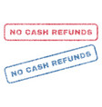no cash refunds textile stamps vector image vector image