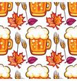 oktoberfest beer seamless pattern cartoon beer vector image vector image
