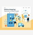 online shopping concept banner vector image